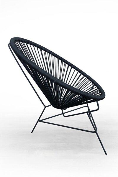 El Örmesi Bahçe Balkon Çukur Sandalye Mobilya Antrasit
