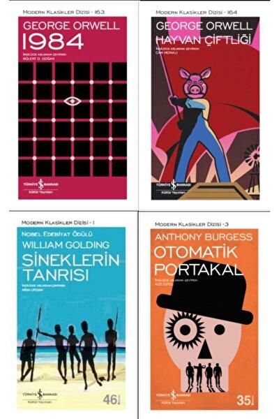 En Çok Okunan Kitaplar Set 1 ( 1984 / Hayvan Çiftliği / Otomatik Portakal / Sineklerin Tanrısı )