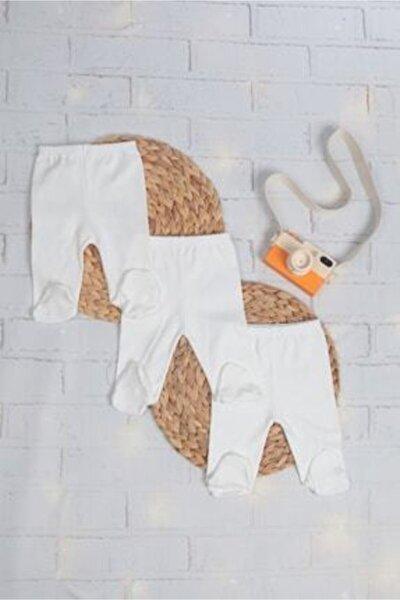 Unisex Bebek Patikli Tek Alt 3'lü Paket Pantolon