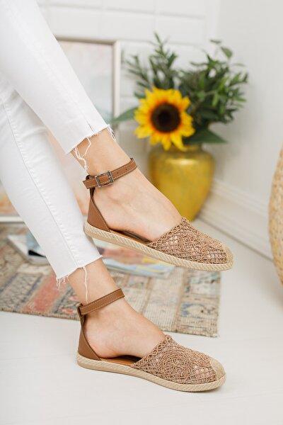 Taba Dantelli Kadın Dantelli Sandalet Md1058-123-0001