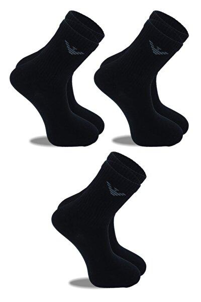 Belyy 3 Lü Siyah Erkek Sport Çorabı