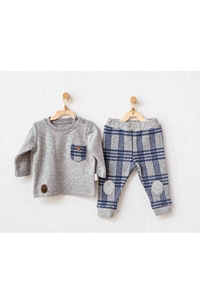 Erkek Bebek Lacivert Kışlık Pijama Takım 2'li Set