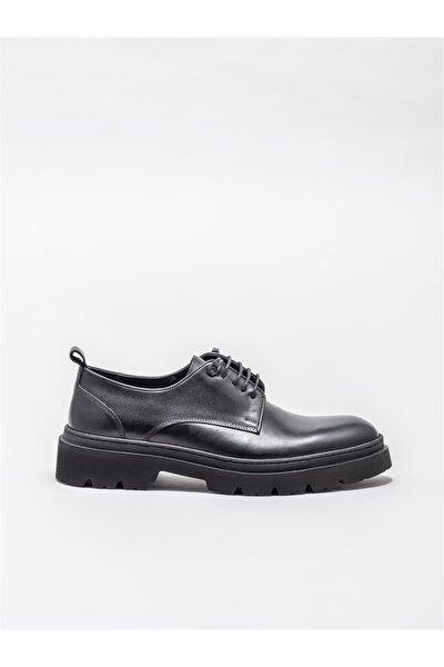 Siyah Deri Erkek Günlük Ayakkabı