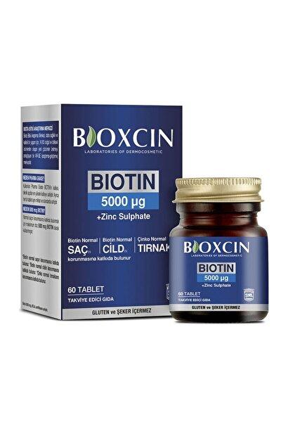 Biotin Tablet 5000mcg Takviye Edici Gıda 60 Tablet