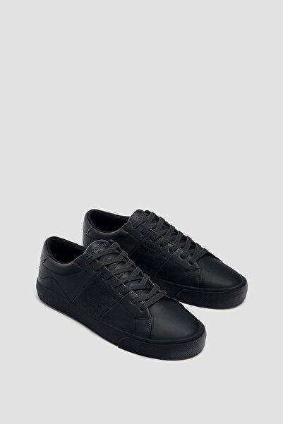 Erkek Siyah Casual Tek Renk Spor Ayakkabı 12210740