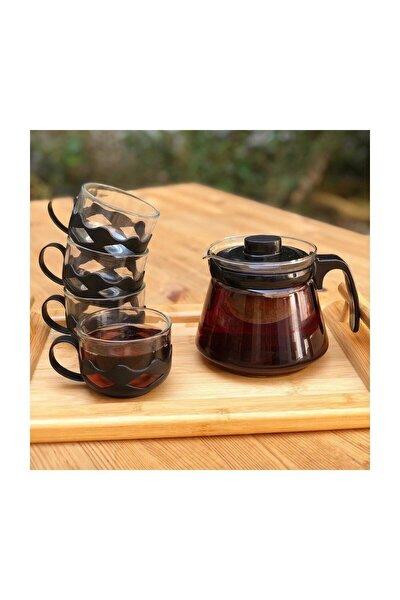 Siyah Guardo 5 Parça Çay Seti 600 ml