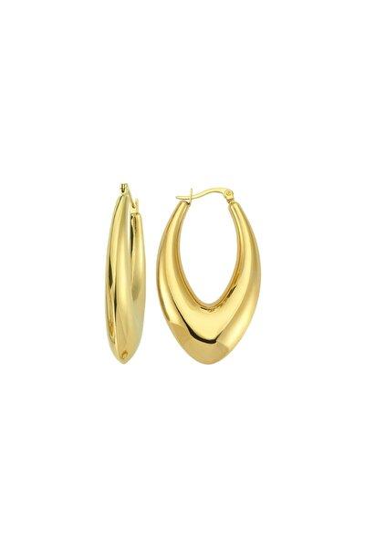 Drop Hoop Earring - Gold