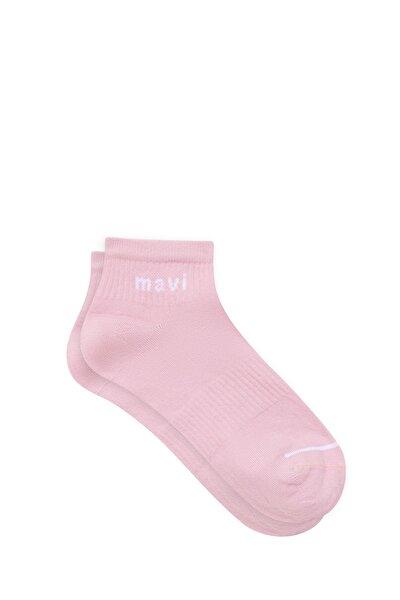 Logo Baskılı Pembe Soket Çorap 198120-33650