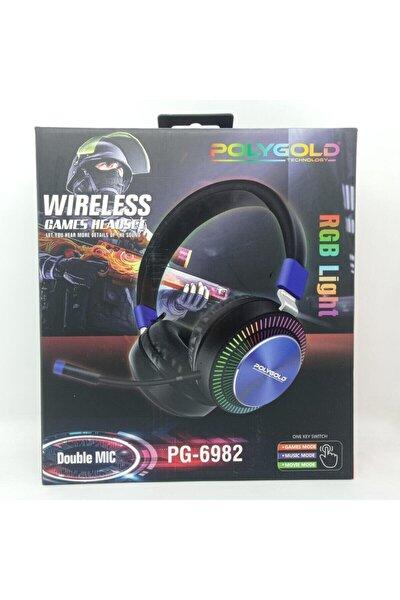 Polygold Pg-6982 Rgb Bluetoothlu Oyuncu Kulaklığı