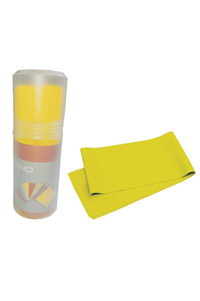 Pilates Bandı Orta Sert 140 X 15 cm Egzersiz Direnç Lastiği Sarı