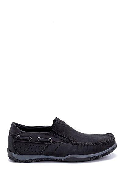 Erkek Siyah Nubuk Loafer Ayakkabı