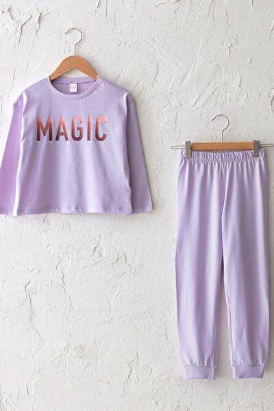 Kız Çocuk Lila G0W Pijama Takımı