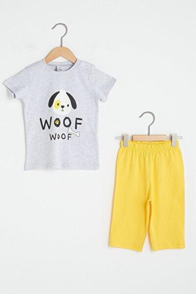 Erkek Bebek Kırıkbeyazmelanj Cx8 Pijama Takımı