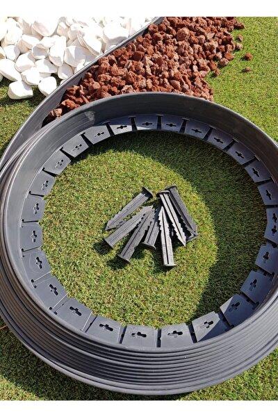 Çim Ayırıcı 10 M Siyah Çim Bahçe Sınırlayıcı Taş Toprak Ayıracı Taş Toprak Bariyeri Ayırma Bordür