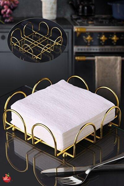 Gold Altın Kaplama Peçetelik - Paslanmaz Çelik Havluluk