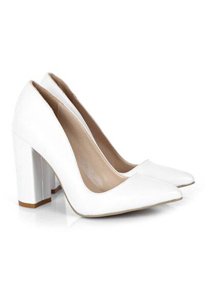 Kadın Kalın Topuklu Stiletto Ayakkabı Ss-1023