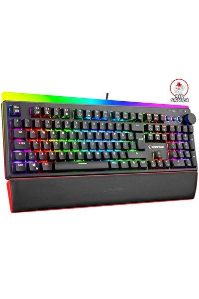 Kb-r97 X-tracer Mekanik Full Rgb Aydınlatmalı - Red Switch Bilek Destekli Gaming Oyuncu Klavyesi