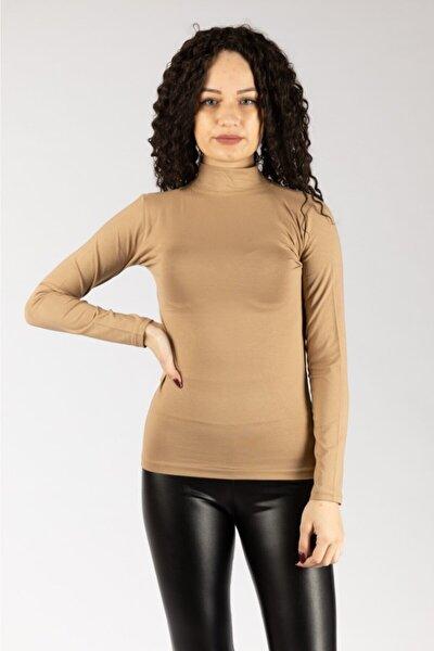 Kadın Uzun Kollu Likralı Penye / Body