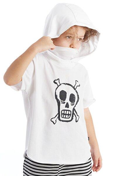 Bebek Baskılı Tshirt Beyaz