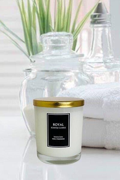 Beyaz Sabun Kokulu - 180 gr - Metal Kapaklı - Beyaz Bardak Mum