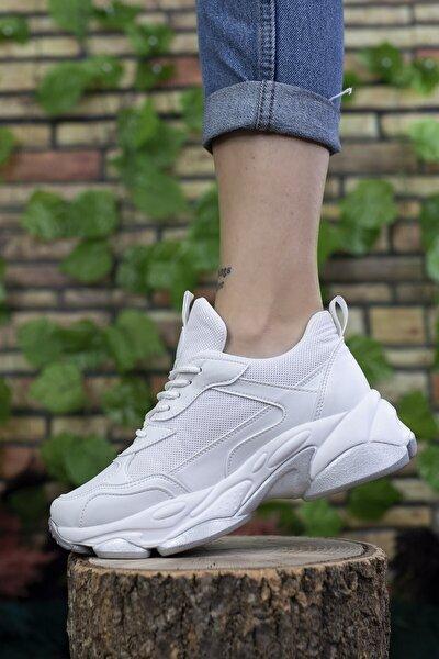 Kadın Beyaz Sneaker 0012189