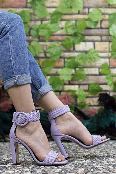 Kadın Mor Yüksek Topuklu Ayakkabı 0012909