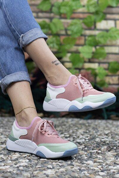 Kadın Pembe Sneaker 0012102