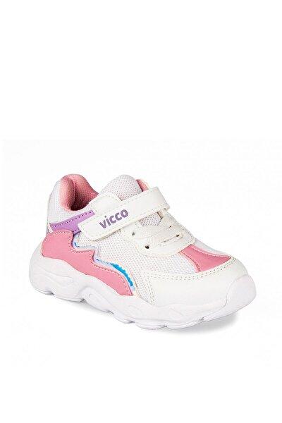 346.P20Y.205 Beyaz Kız Çocuk Koşu Ayakkabısı 100578804