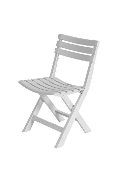 Bahçe - Balkon, Iç Ve Dış Mekan Katlanır Plastik Sandalye Beyaz