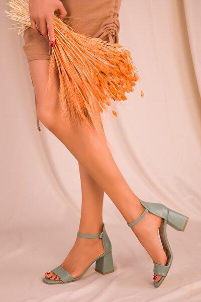 Yeşil Kadın Klasik Topuklu Ayakkabı 15977