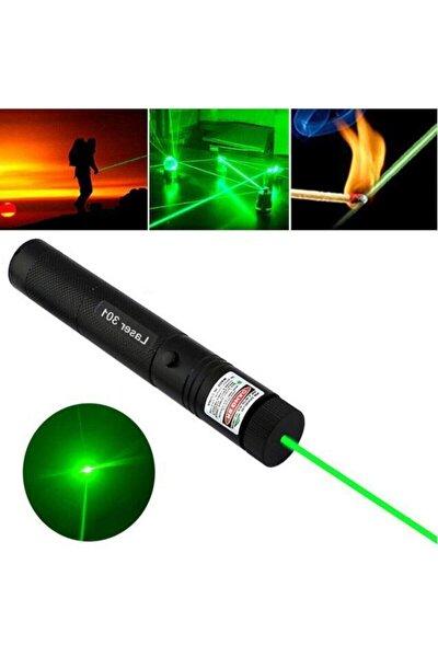 Green Laser Pointer Şarjlı Güçlü Yeşil Lazer Metal Kasa