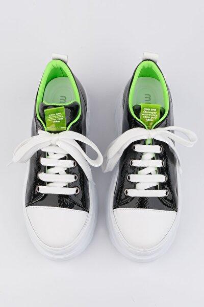 Kadın Siyah Sneaker Kalın Taban Spor Ayakkabı Likoz