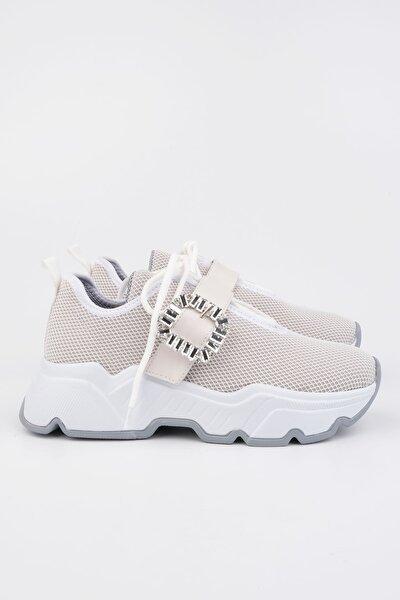 Kadın Beyaz Sneaker Ayakkabı Baruba