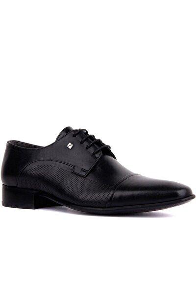 Erkek Siyah Bağcıklı  Deri  Klasik Ayakkabı 2239 114