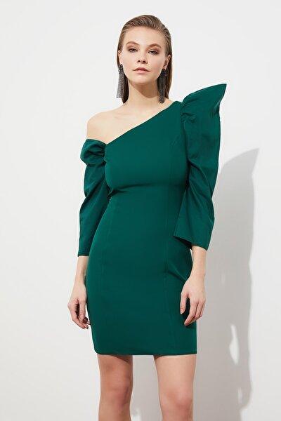 Yeşil Yaka Detaylı Elbise TPRSS21EL1407