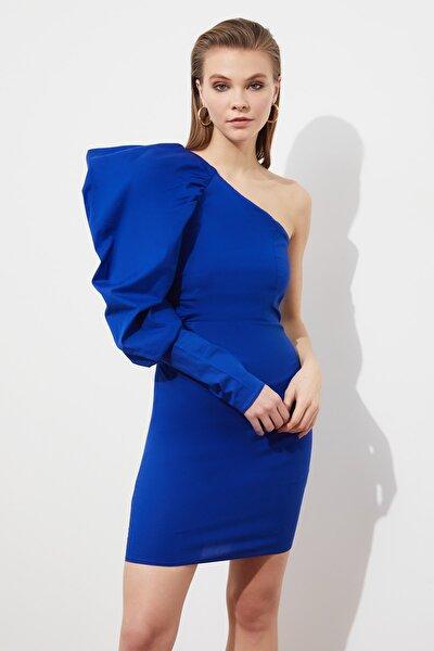 Saks Kol Detaylı Poplin Elbise TPRSS21EL1151