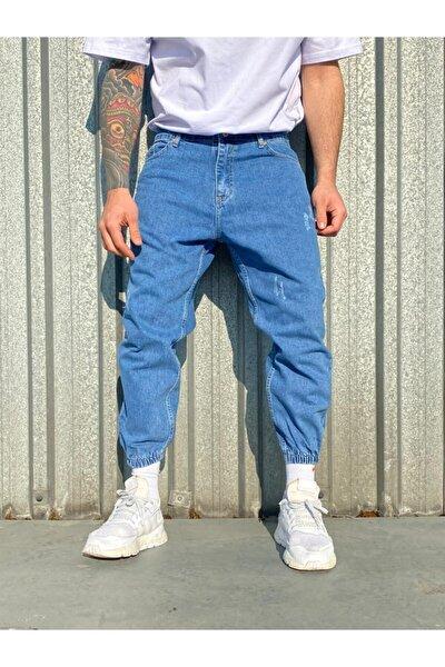 Erkek Paça Lastikli Boyfriend Kot Pantolon