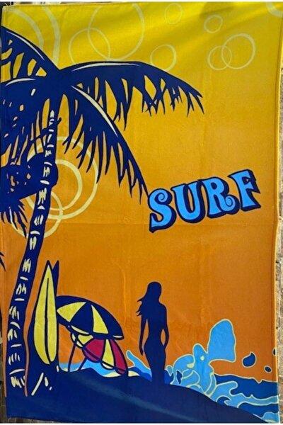 Sunset Baskılı Plaj Havlusu Büyük Boy 100x150 cm