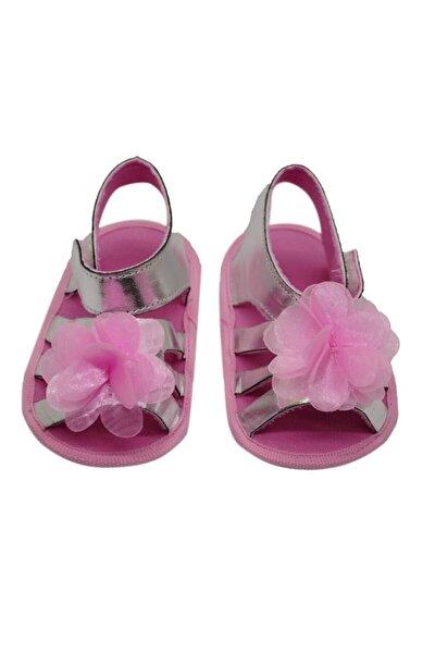 Bebek Çiçekli Sandalet Gümüş-g-2080