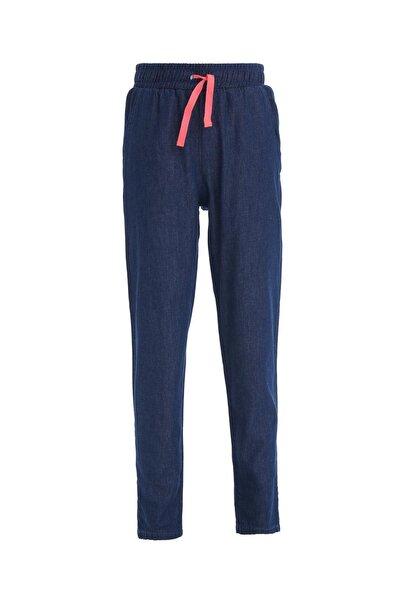Kız Çocuk Mavi Carrot Fit Jean Pantolon