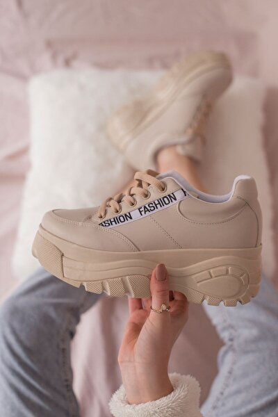 Mat Deri Bağcıklı Spor Ayakkabı