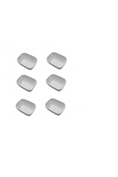 Esminahome Beyaz 6 Adet Melamin Küçük Kahvaltı Tabak 12cm X 8.5cm