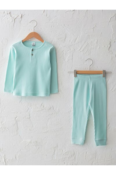 Kız Çocuk Yeşil Pamuklu Pijama Takım