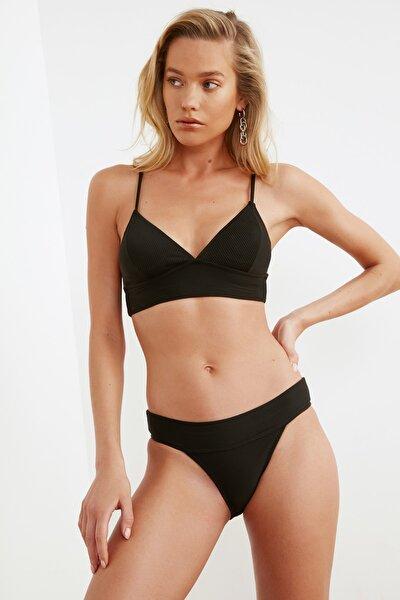 Siyah Düşük Bel Bikini Altı TBESS21BA0091