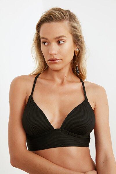 Siyah Dokulu Bikini Üstü TBESS21BU0010