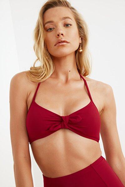 Bordo Bağlama Detaylı  Bikini Üstü TBESS21BU0098