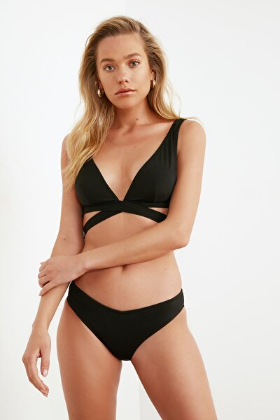 Siyah V Kesim Bikini Altı TBESS21BA0122