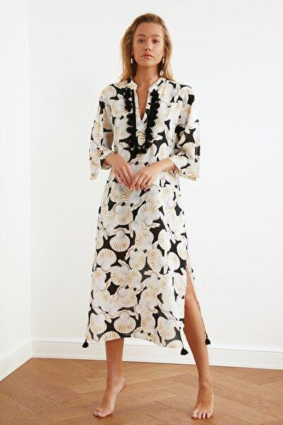 Vizon İnci Baskılı Vual Kimono&Kaftan TBESS20KM0024