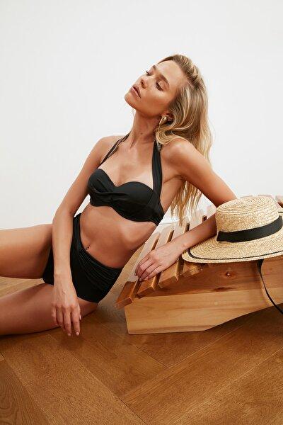 Siyah Alternatif Kullanımlı Bikini Üstü TBESS20BU0223