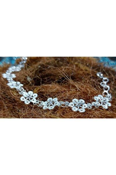 Orjinal Telkari El Işi Saf Gümüş Küçük Çiçek Bileklik